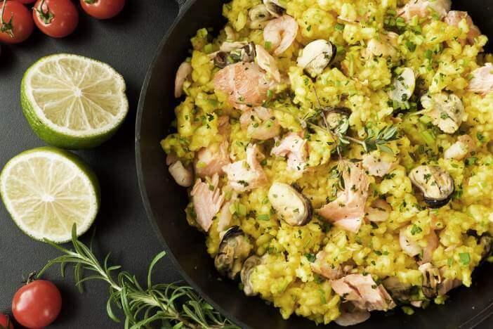 Upfit Fisch-Reis-Mango Rezept