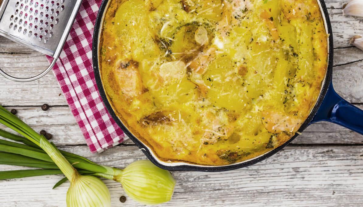 Upfit Omelett Mit Kartoffeln Und Lachs