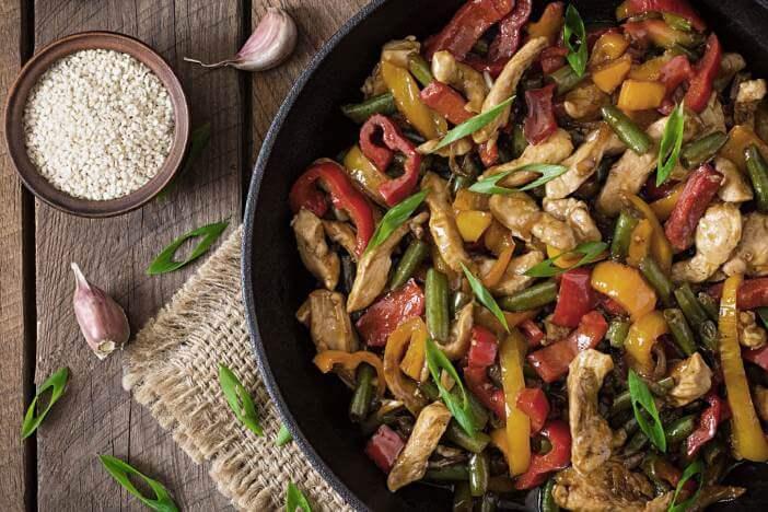 Upfit Stir-Fry-Chicken Rezept